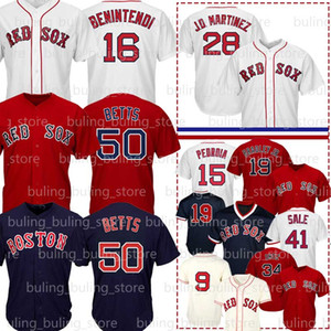 50 Mookie Betts Jersey 16 Andrew Benintendi 9 Ted Williams 34 David Ortiz Jackie Bradley Jr Dustin Pedroia J. D. Martinez