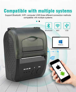 1pcs 58mm Thermal Portable Printer 5809D Wireless Bluetooth 4.0 Support Android and iOS Windows Office Store EU US UK