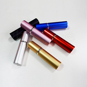 6 color Mini Empty Spray Perfume Bottle 5ml Aluminium Anodized Compact Perfume Atomiser Fragrance Empty Glass Scent-bottle RRA2214
