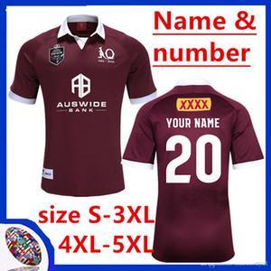 2020 QUEENSLAND ETAT D 'ORIGINE Maroons MAILLOT RUGBY 2020 QLD Maroons JERSEY QLD Maroons AUTOCHTONE rugby taille Jersey S-L-5XL (peut imprimer)
