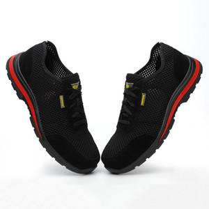 Homens Safety Shoes Aço Toe Indestrutível sapatos malha respirável Anti-quebrando Bota de Segurança do Trabalho Leve Trabalho Sneakers Masculino
