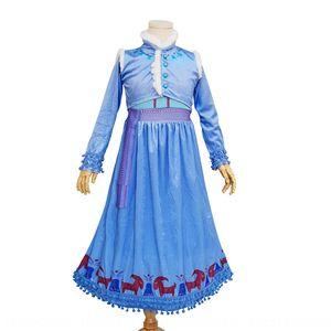 Girls ice-snow love Aisha Princess 2019 Anna princess dress cosplay dress