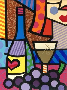 """TASTE OF LOVE"" by ROMERO BRITTO Home Decor Handpainted Oil Painting On Canvas Wall Art Canvas Pictures 200529"