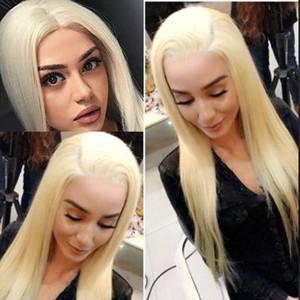 613 شقراء الرباط الباروكات كامل مع شعر الطفل 150 الكثافة حريري مستقيم شعر الإنسان الغراء أقل الشعر العذراء البرازيلي الباروكات