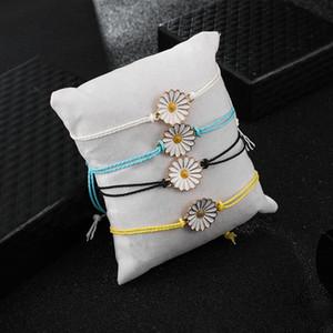 4pcs / lot Los regalos del girasol Diseño pulseras de la amistad de la hermana de joyas pulseras Trabajo recuerdo Manualidades niñas floral de la moda del equipo
