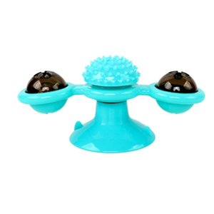 Pet Toy Interactive Cat Puzzle Training Rotary Table Ball Mill Rotating Cat Toys Games Supplies