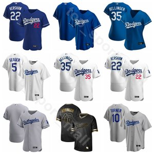 2020 Baseball Homens Mulheres Youth 35 Cody Bellinger Jersey 50 Mookie Betts 5 Corey Seager 33 David Price 10 Justin Turner Equipe azul