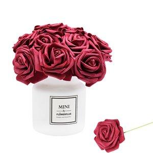 24Pcs lot Artificial Flowers Artificial Rose Bouquet Foam Rose Flowers Bride Bouquets for Wedding Home Party Decoration