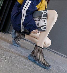 2020 più nuova maglia elegante piatto Jelly Sandalo suola scarpe casual prezzo all'ingrosso del pattino dei pattini disinfettati abito donna traspirante calzature