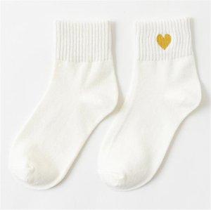 AŞK Tatlı Kadın Çorap Stretch Katı Renk Casual Kadın Çorap Spor Geometrik Baskılı Çorap