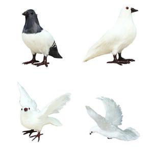 White Pigeon Wedding Decoration Simulation White Pigeon Home Living Room Decoration Bird Toy Car