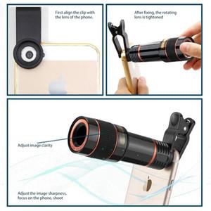 Cyberstore 12X Mobile Phone externa Camera Lens Universal Clipe Kit Telescópio HD externo lente teleobjetiva Tele Lens Zoom Óptico Cell Phone