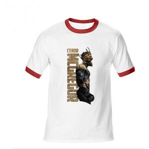 Camiseta de manga corta Pre-Cotton para hombre Camisa de UFC Crazy Camisetas ocasionales 3XL El rey de Conor Mcgregor MMA Polo campeón de peso pluma