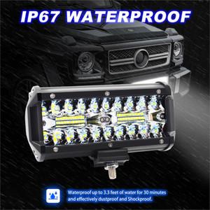 120W 3 Reihen 7-Zoll-Scheinwerfer Scheinwerfer Lichter Off-Road-Beleuchtung LED-Arbeitsleuchten Refitted Auto Tagfahrlicht fahren