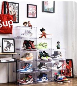 caja de zapatos de almacenamiento, la zapatilla de deporte gabinete del zapato anti-oxidación, el gabinete de almacenamiento de calzado de plástico transparente, caja de almacenamiento simples de la casa