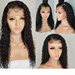 A 360 Lace Parrucca Frontal Water Wave 150% Densità Pre pizzico Con capelli del bambino 360 Frontal del merletto parrucche dei capelli umani profonda Curl Linea sottile naturale