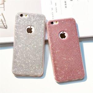 i7 7Plus Ультратонкий блестящий блестящий чехол на заднюю крышку для iPhone Кристалл Мягкий гель ТПУ чехол для iPhone 5S 5 6 6s XS XR 7 8 Чехол для телефона