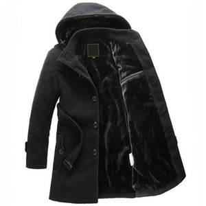 Vente chaude hommes manteau de laine d'hiver de longues sections chaudes épais manteaux de laine veste homme Casual casaco masculino palto caban manteau