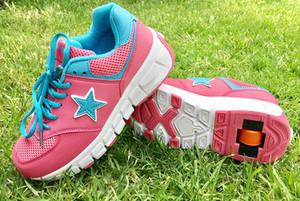 Zapatos ruedas Jazzy niño junior zapatos de los muchachos de los rodillos para niños rueda zapatos transpirables de rodillos niños de skate zapatillas de deporte de la moda Y200103