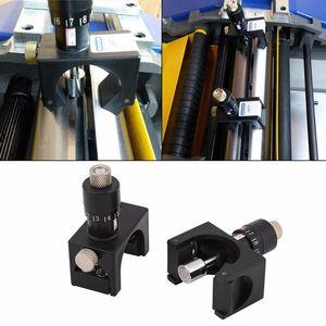 2PCS 조정 자기 플래너 나이프 설정 지그 블레이드 레귤레이터 접합하는 게이지 세터를 들어 목공 세터 도구