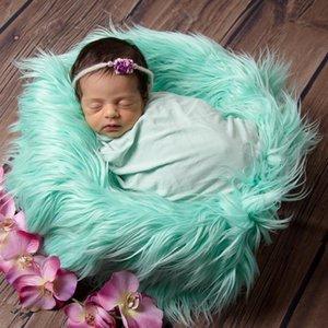 Kaufen 2ST get one free neugeborene Baby-Baby-Foto Blanket Fake Fur Teppich Decke Fotografie Hintergrund Prop Basket Stuffer Filler
