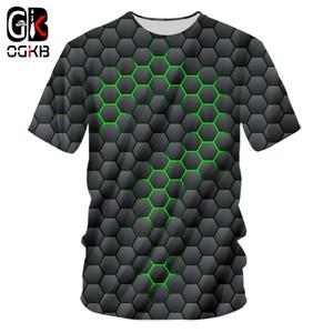 OGKB Nouveau en trois dimensions Vortex place T-shirt d'été Impression 3D hommes Casual T-shirt 3D Tops surdimensionnée 7XL