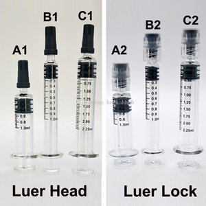 فارغة الزجاج حقنة 1 ملليلتر واضح بيركس حاقن لور رئيس قفل 2.25 ملليلتر قياس علامة تلميح التخرج النفط ملء أدوات خراطيش الملحقات