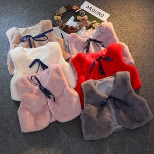 2020 Vêtements d'hiver récent Automne chaud Nouveau-né bébé Enfants bébé filles Gilet Manteau Fuzzy Tenues Balles Waistcats Préchauffage Tenues