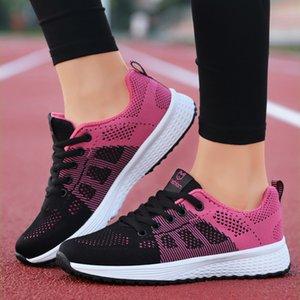 Zapatos PUAMSS 2020 femenino Deporte plataforma de la moda zapatillas de deporte de invierno resorte de las señoras zapatos de los planos Mujer corriente de aire