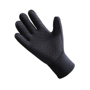 Luvas pretas 3mm Neoprene Keep Warm Anti-Skid Women / Men Natação mergulho vela equipamento de surf Mergulho Snorkeling do Aqua Gloves