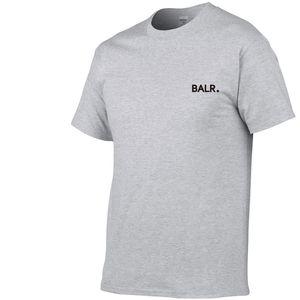 2019 Nova BALR cor sólida T shirt dos homens preto e branco 100% algodão T-shirts Skate Verão Tee Boy Skate T-shirt Tops