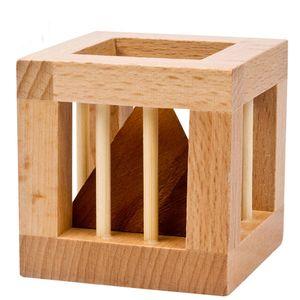 Unlock 3D Rússia Caged Triângulo Toy Educacional Educacional de madeira quebra-cabeças para adultos dos miúdos Brain Teaser Desenvolvimento Cérebro Power Toy