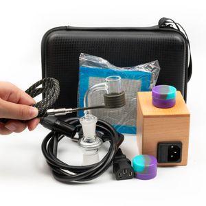 5 Estilo quartzo E unha Enail kit de controlo de temperatura DAB eléctrico caixa 14 milímetros unhas macho de quartzo 20 milímetros bobina heate para cachimbo equipamento de vidro