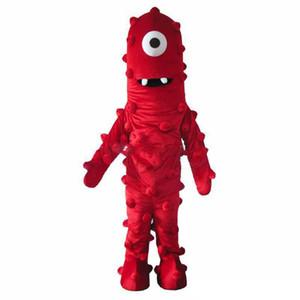 2019 Venta de la fábrica El mejor traje de la mascota de Muno De Yo Gabba Gabba Vestido tamaño adulto envío gratis