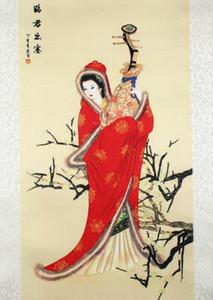 Zhaojun desen ipek boyama dekorasyon kaydırma boyama Çin özellikleri ve yeni özel hediye toptan