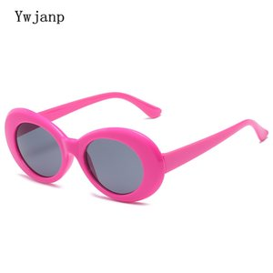 Ywjanp 2020 New oval Sunglasses Women Vintage retro sunglasses Brand Designer Plastic Frame Sun Glasses for ladies UV400 Eyewear
