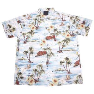 19SS Coconut Tree Printing Shirt Summer Beach Hombres Mujeres Camiseta Moda Casual Street Holiday Hawaii Outwear Jacket HFLSCS040