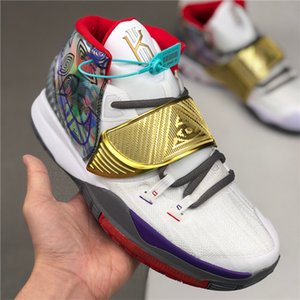 New Arrival 6s Kyrie IV Lucky Charms Men Basketball Shoes Men Top Quality Irving 6 Confetti Color Green Designer Trainers off Sneakers