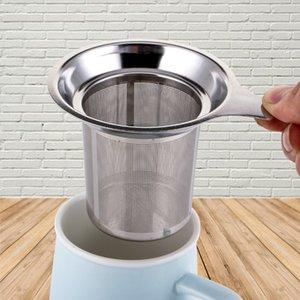 Nuova cucina Accessori Mesh Tea Infuser metallo in acciaio inox coppa setaccio Tea Leaf Filter Holder setaccio bustina di tè Dropshipping