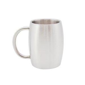 14 унций дешевая кофейная кружка двухслойный кофейный стакан из нержавеющей стали теплоизоляция чашка воды открытый кемпинг чайная кружка с ручкой крышкой A09