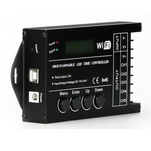 DHL Shipping TC421 Programmatore di tempo a LED programmabile WiFi DC12-24V 20A 5CH per RGB LED Light Strip