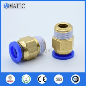 5pcs Fast Twist Pneumatic 6mm 8mm 10mm 12mm Tube To PC4PC6PC8PC10PC12-M5 Male Thread Stainless Steel Pipe Fittings Connector