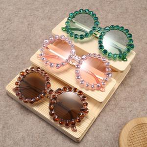 Neue runde große gerahmte Diamant-Sonnenbrille 2018 europäische und amerikanische Persönlichkeit, weibliche Street-Beat-Gezeiten-Sonnenbrille