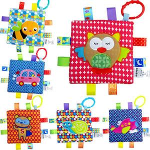 Nouveau-né bébé Apaisez Serviette Saisissant coloré animaux doux bébé Tétines Jouets bébé Jouets bébé essuie-mains Hochet lxhua