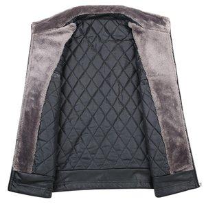 big Plus Size 8xl 7xl Men Sheep Skin Jacket Fleece Motorcycle Bomber Black Leather Coats Male Outerwear Winter Jacket Keep Warm
