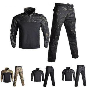 Armee Militäruniform BDU Tarnung Atmungsaktiv Kampfanzug Airsoft Kriegsspiel Kleidung Set Schnell Trocknende Hemden Und Taktische Hosen