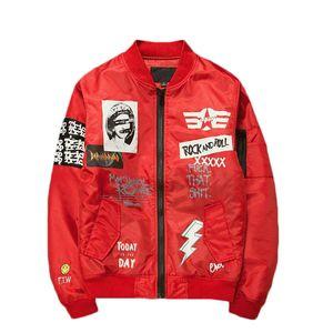 Brasão bomba jaquetas de beisebol do Jacket Men Bomber gola tamanho de cópia Além disso Jacket Moda Masculina Casual Outwear
