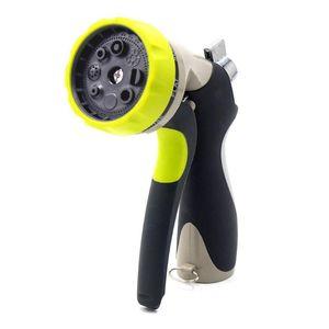Zinc Alloy Front Wrench Type Multifunctional Gardening Watering Nozzle 8 Functions Watering Water Gun