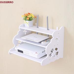 OUSSIRRO Creative Home TV Cabinet set Top Box Frame Router Shelf Storage Carrier стеллаж для хранения перегородки пилоны настенные T200319