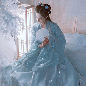 Elegante chinesische traditionelle Hanfu Frauen alte Prinzessin Costume National Hanfu Bühnenkostüm Volkstanz Perform Kleid DL5342